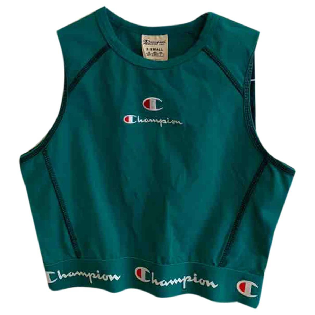 Champion - Top   pour femme en coton - vert