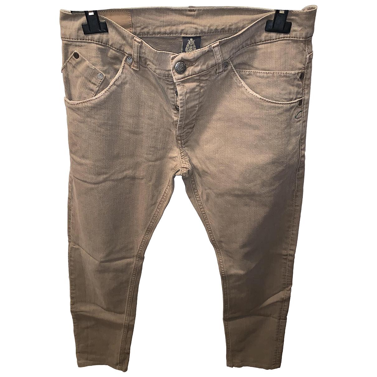 Dondup N Beige Cotton Jeans for Men 42 - 44 FR