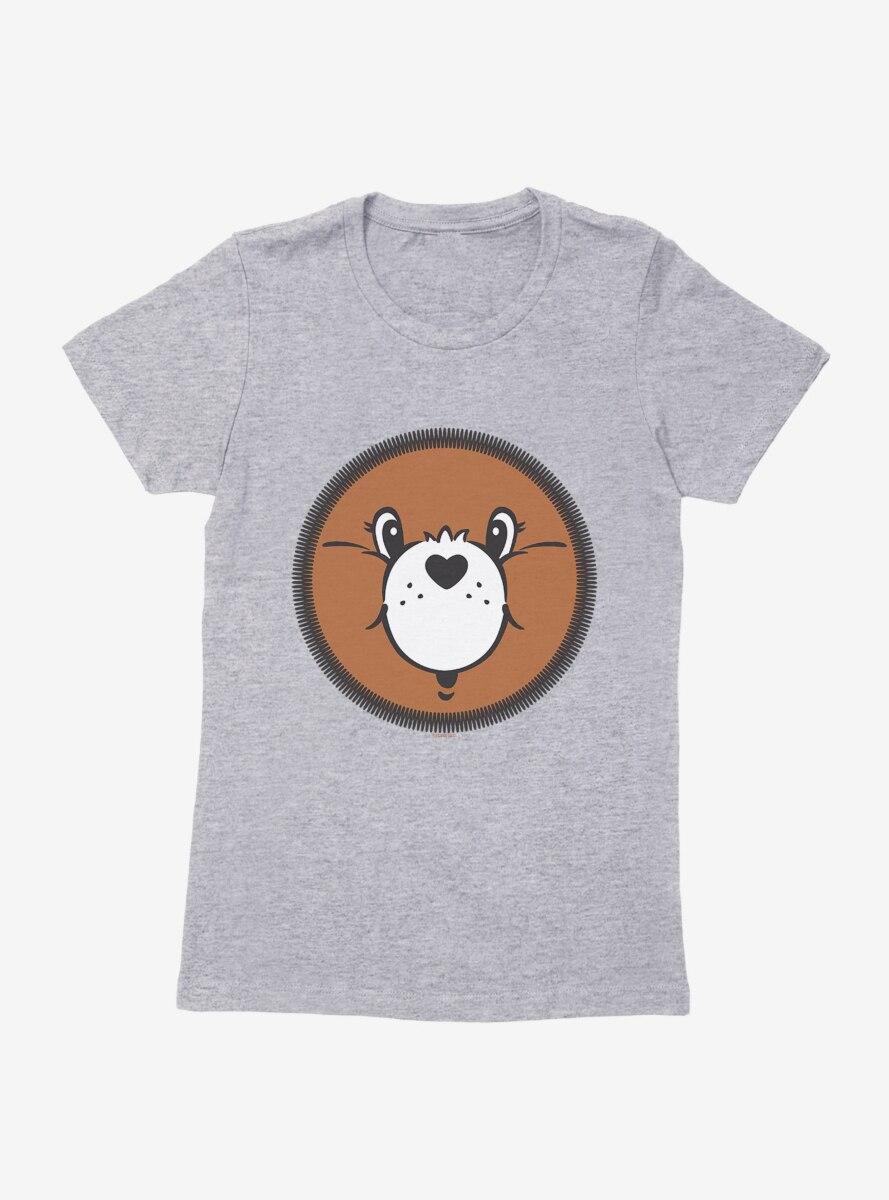 Care Bears Tenderheart Bear Face Womens T-Shirt