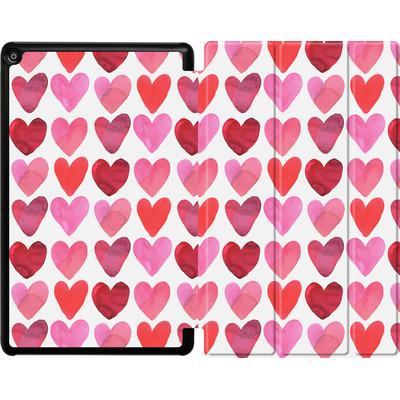 Amazon Fire HD 10 (2017) Tablet Smart Case - Heart Watercolour von Amy Sia
