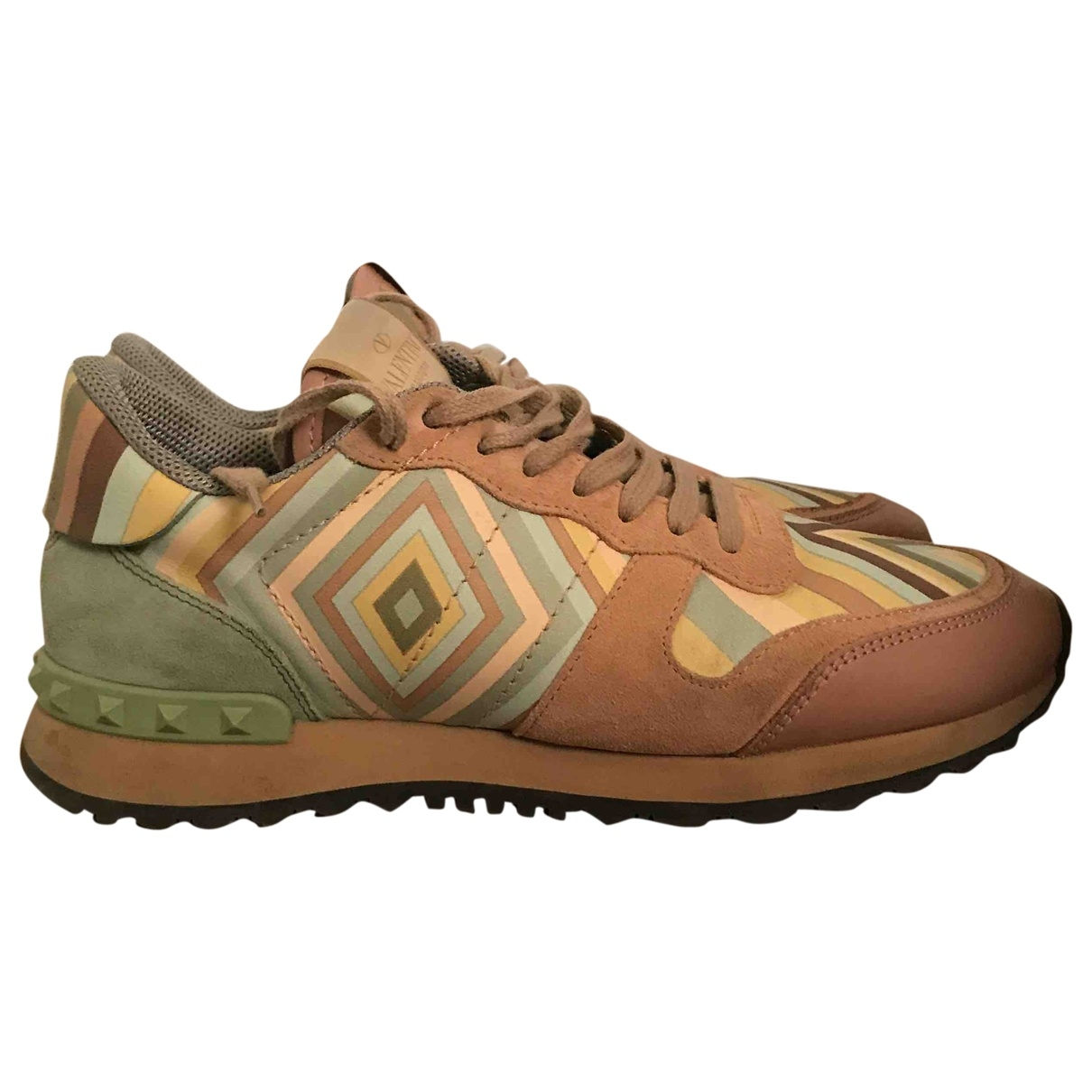 Valentino Garavani Rockstud Multicolour Leather Trainers for Women 38 EU