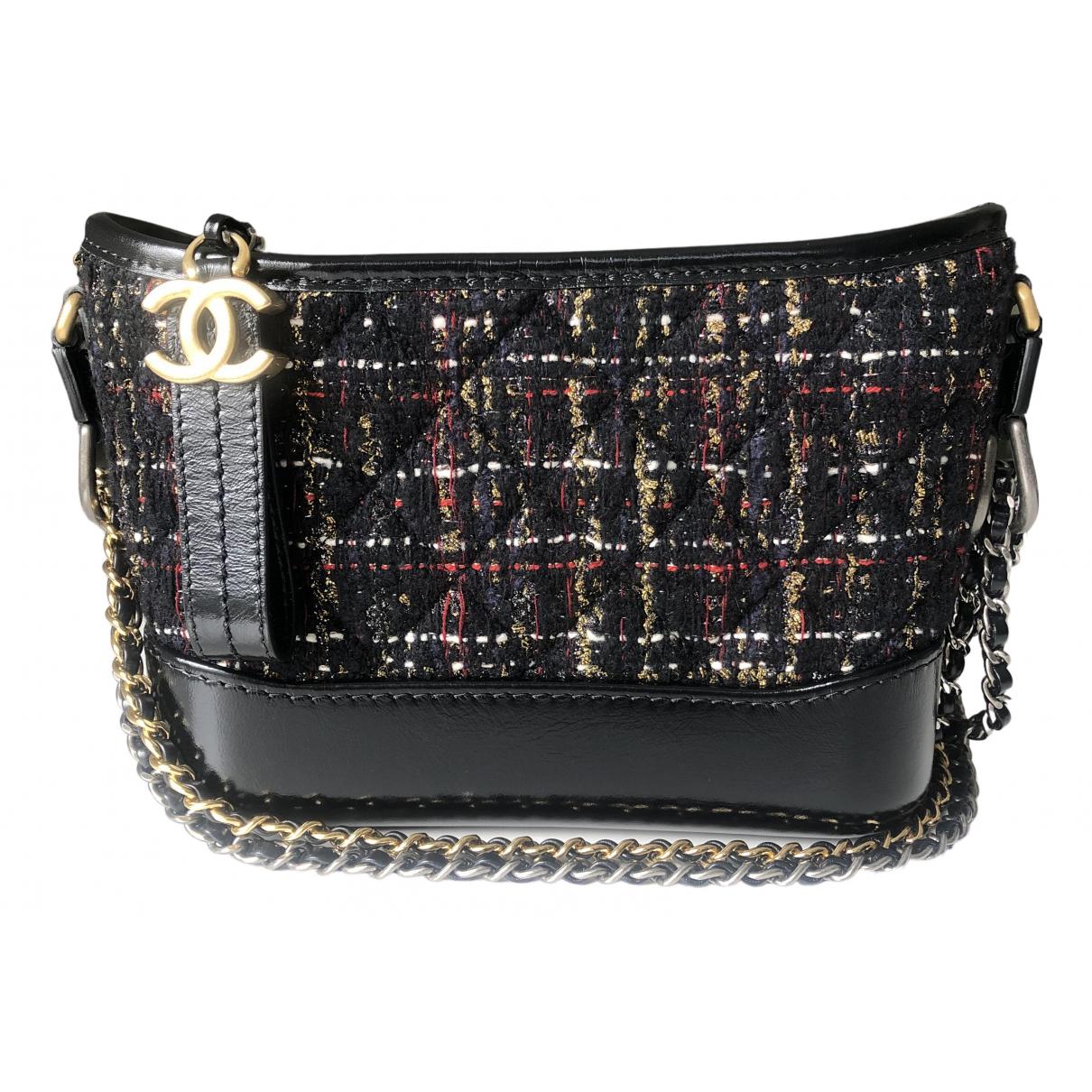 Chanel Gabrielle Handtasche in  Schwarz Tweed