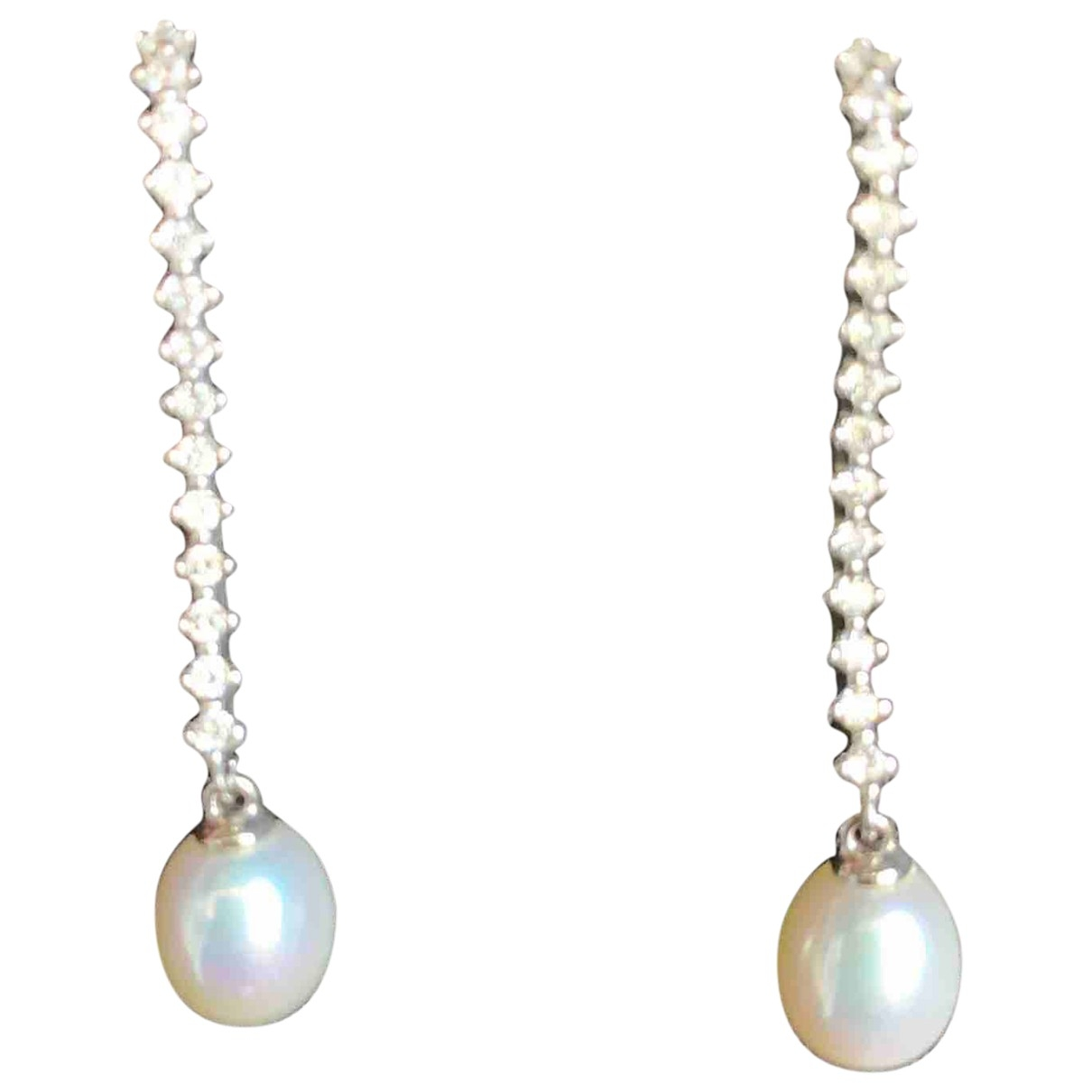 - Boucles doreilles Nacre pour femme en perle - argente