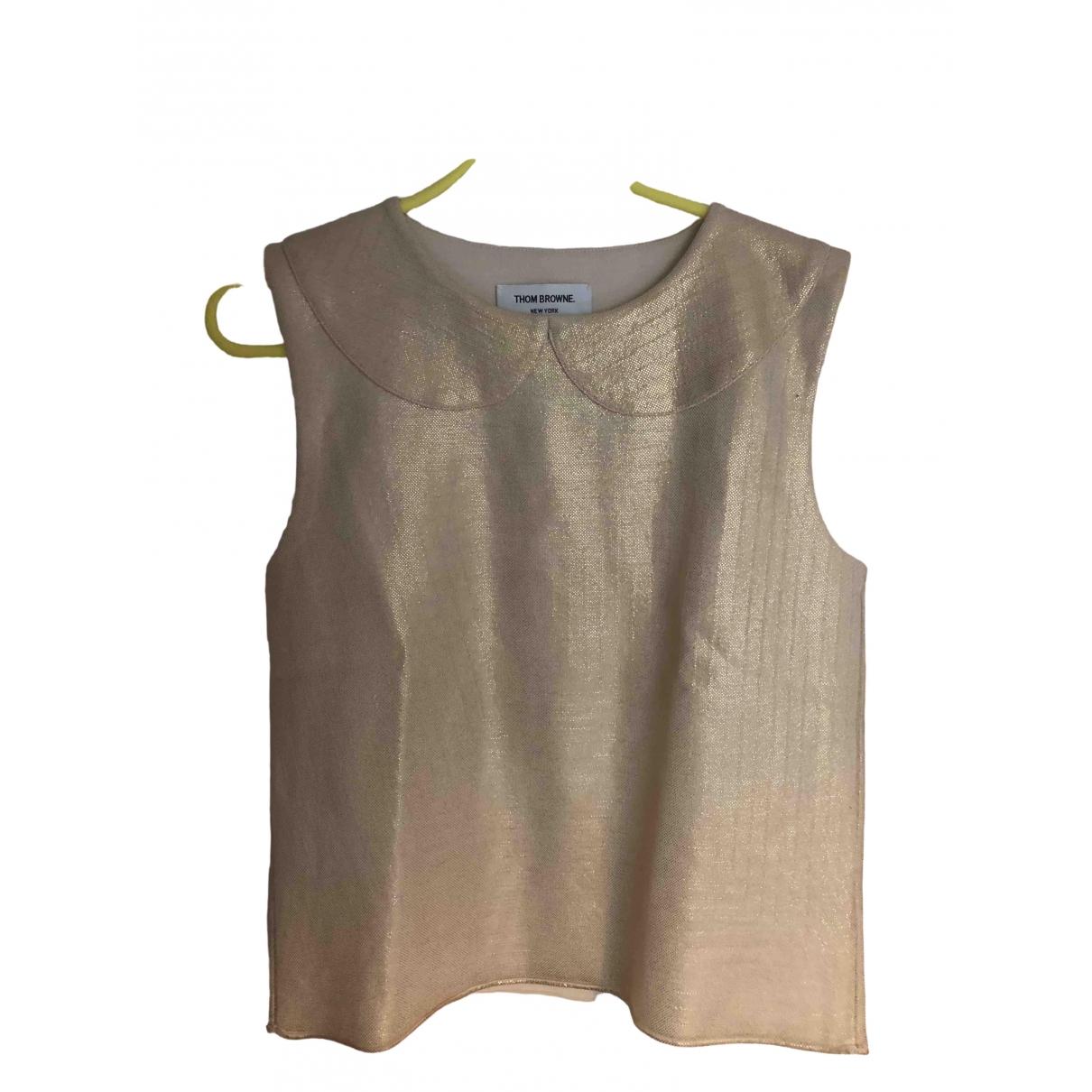 Thom Browne - Top   pour femme en laine - beige