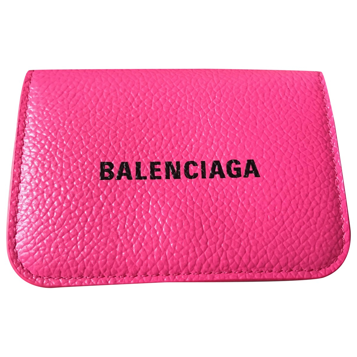 Balenciaga \N Portemonnaie in  Rosa Leder
