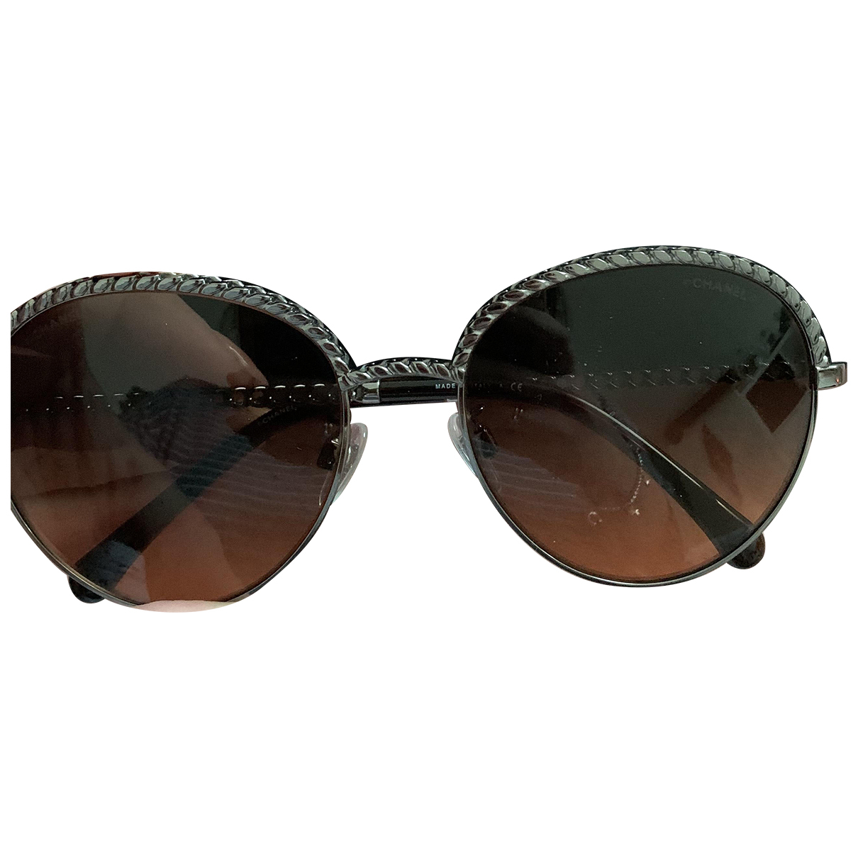 Chanel N Anthracite Metal Sunglasses for Women N