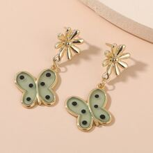 Butterfly Decor Drop Earrings