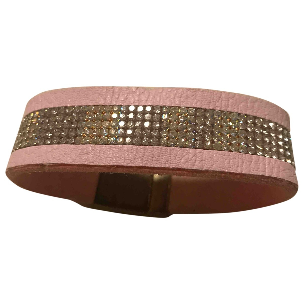 Non Signé / Unsigned \N Pink Cloth bracelet for Women \N