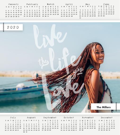 Calendar Wood Hanger Board Print, 11x14, Home Décor -The Life You Love