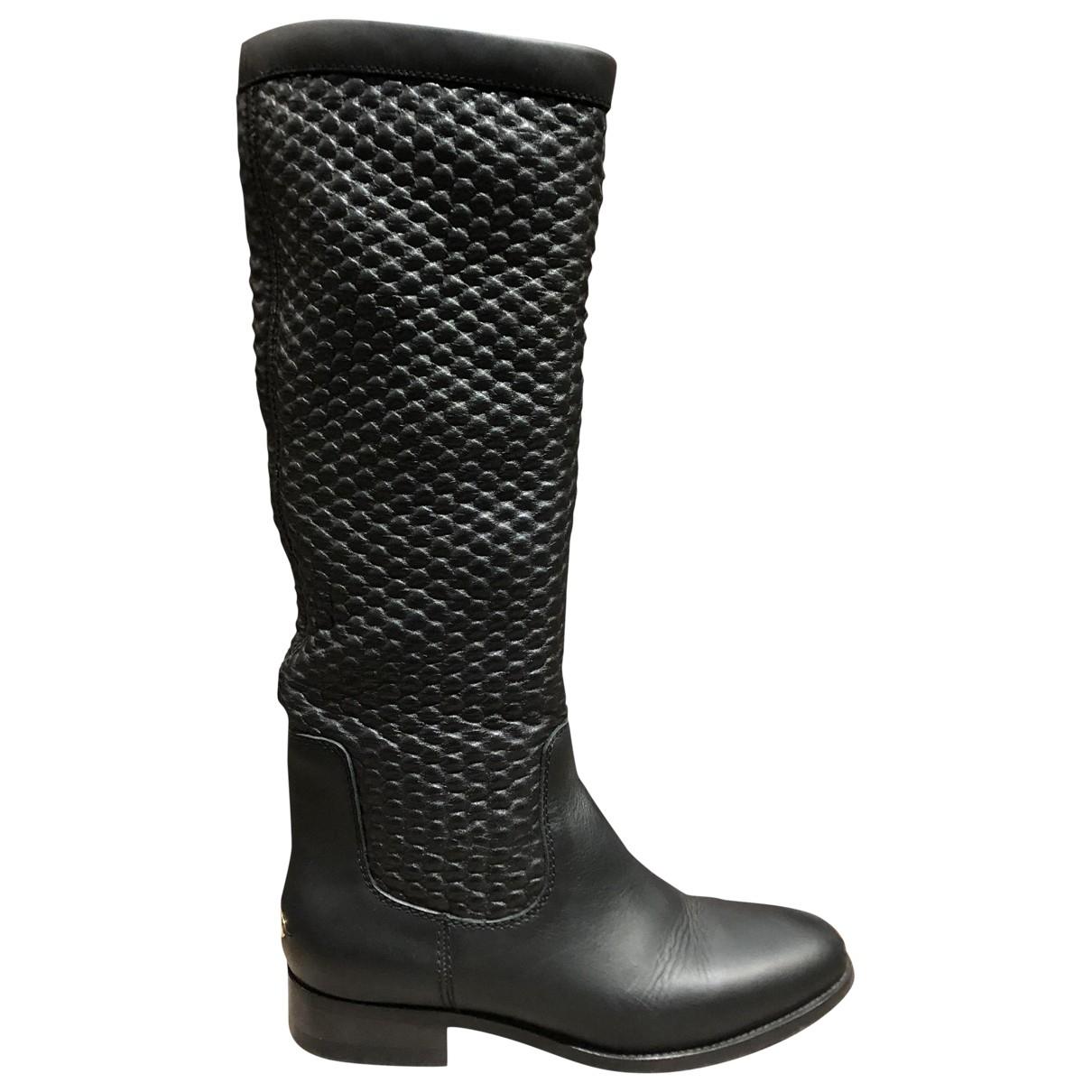 Jimmy Choo \N Black Leather Boots for Women 37 EU