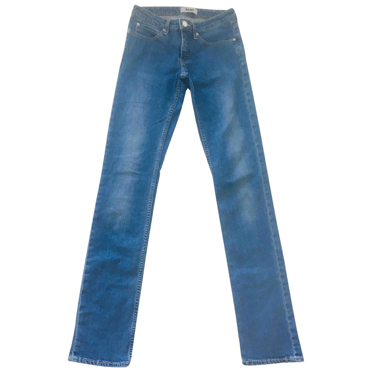 Acne Studios \N Blue Cotton - elasthane Jeans for Women 27 US