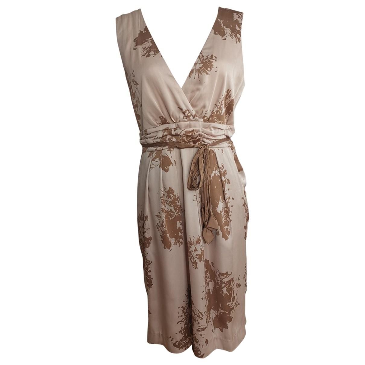 Non Signé / Unsigned \N Beige dress for Women 14 UK