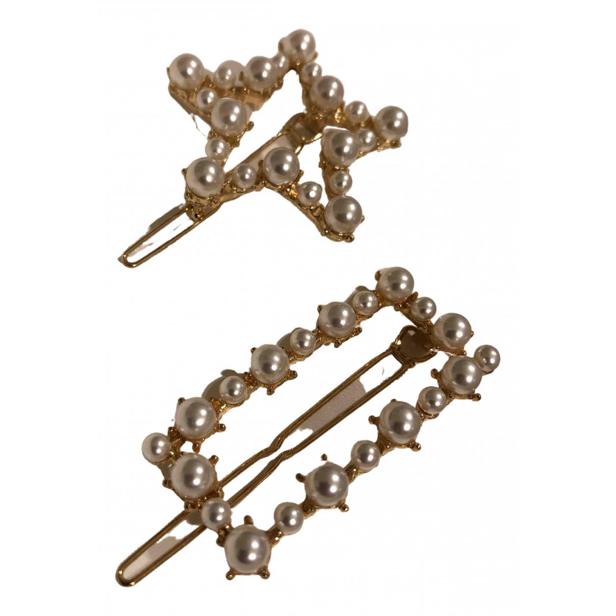 Non Signe / Unsigned Nacre Haarschmuck in  Gold Perle