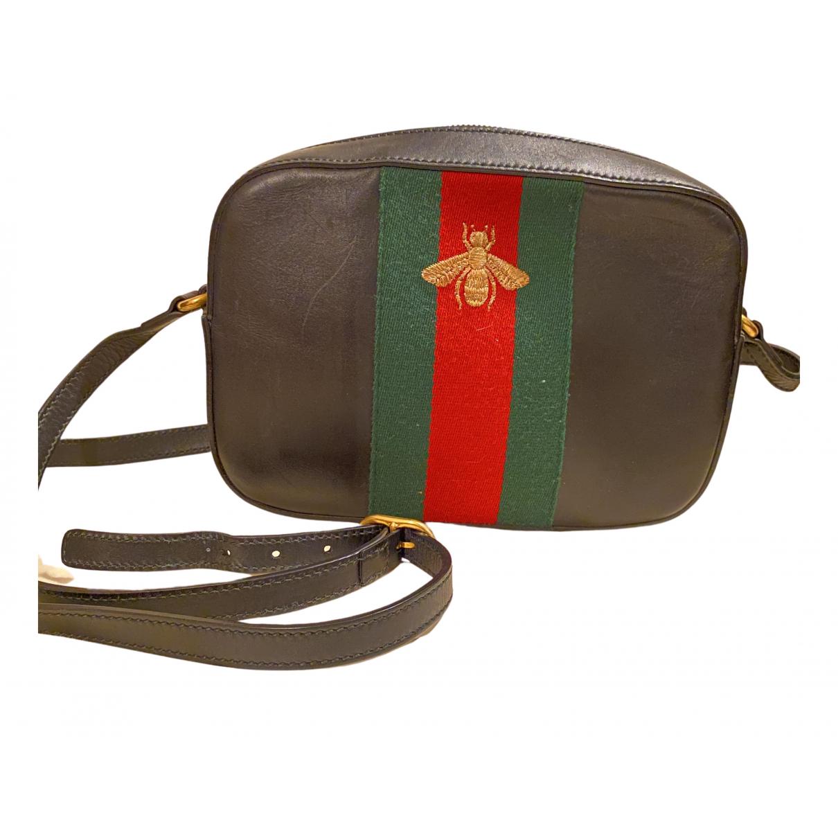 Gucci \N Handtasche in  Schwarz Leder