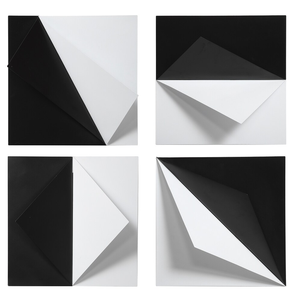 Uttermost Origami Metal Wall Decors (Set of 4) (Black)