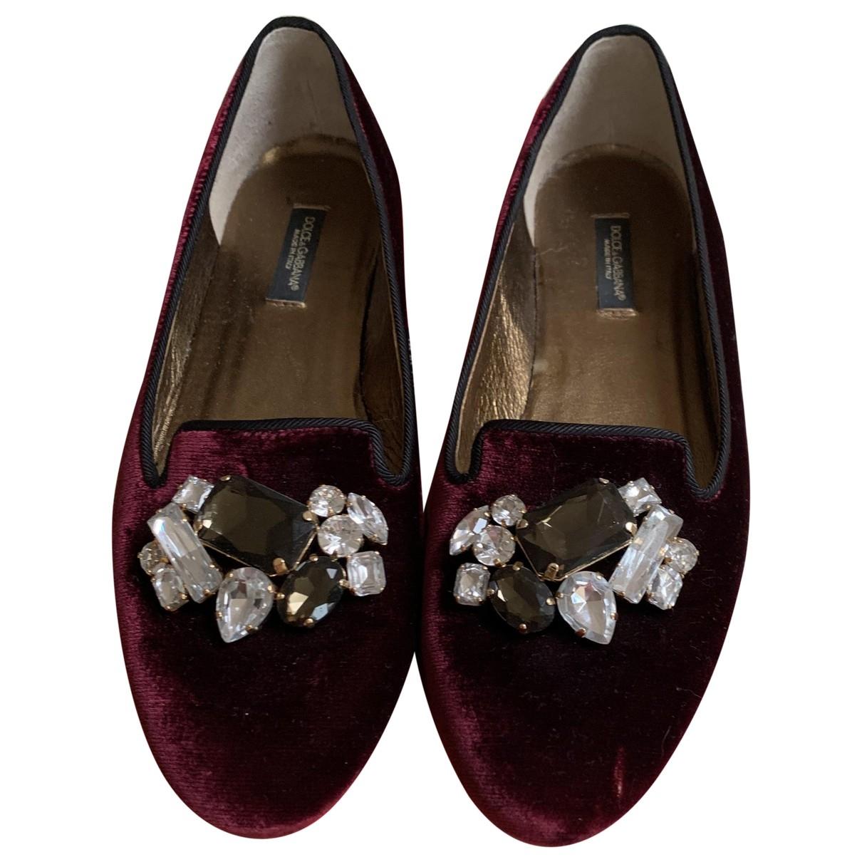 Dolce & Gabbana \N Ballerinas in  Lila Samt