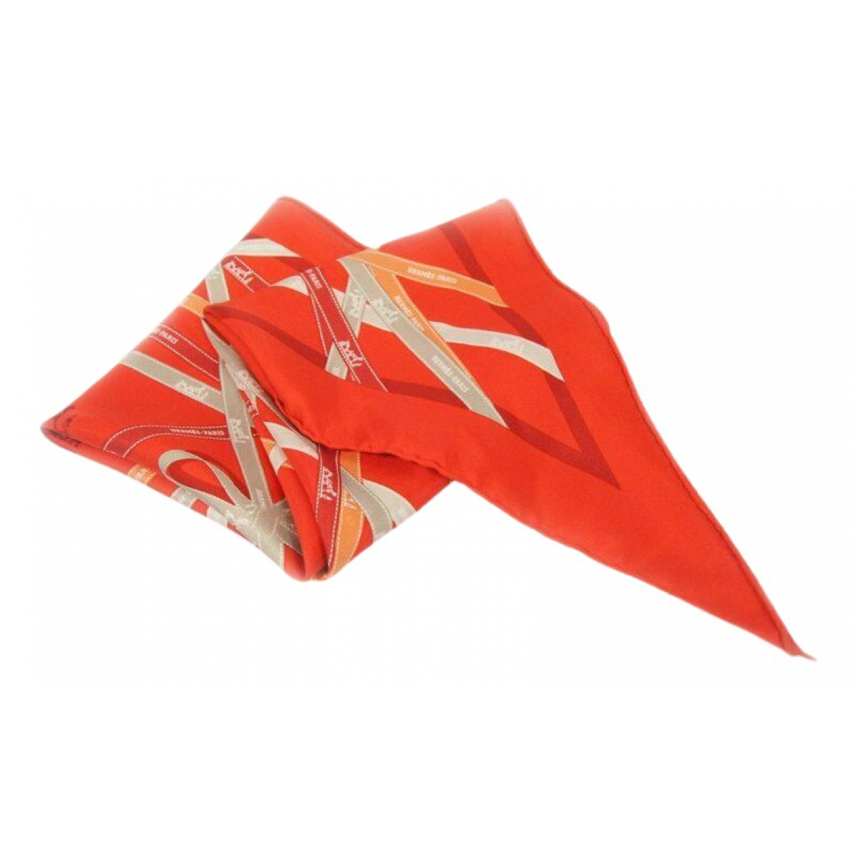 Hermes Pointu Schal in  Orange Seide