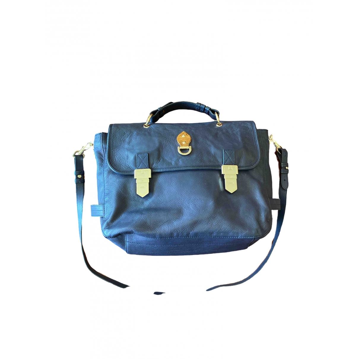 Mulberry \N Handtasche in  Marine Lackleder