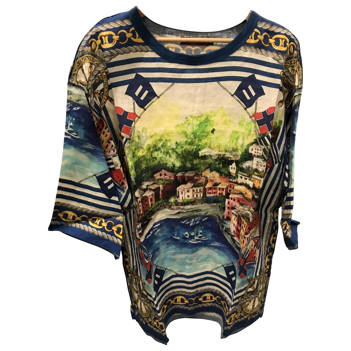Dolce & Gabbana \N Kleid in  Bunt Leinen