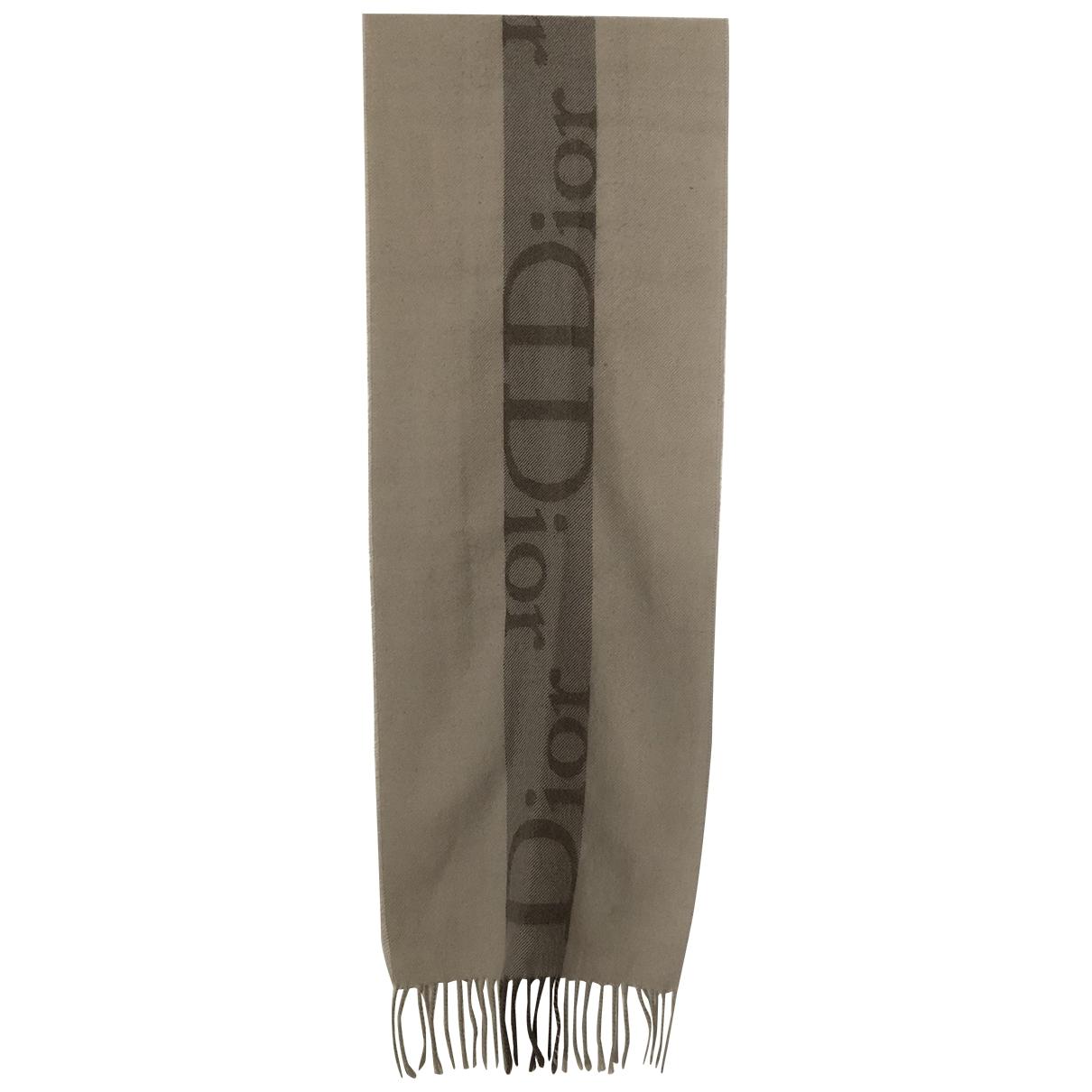 Dior - Foulard   pour femme en laine - beige