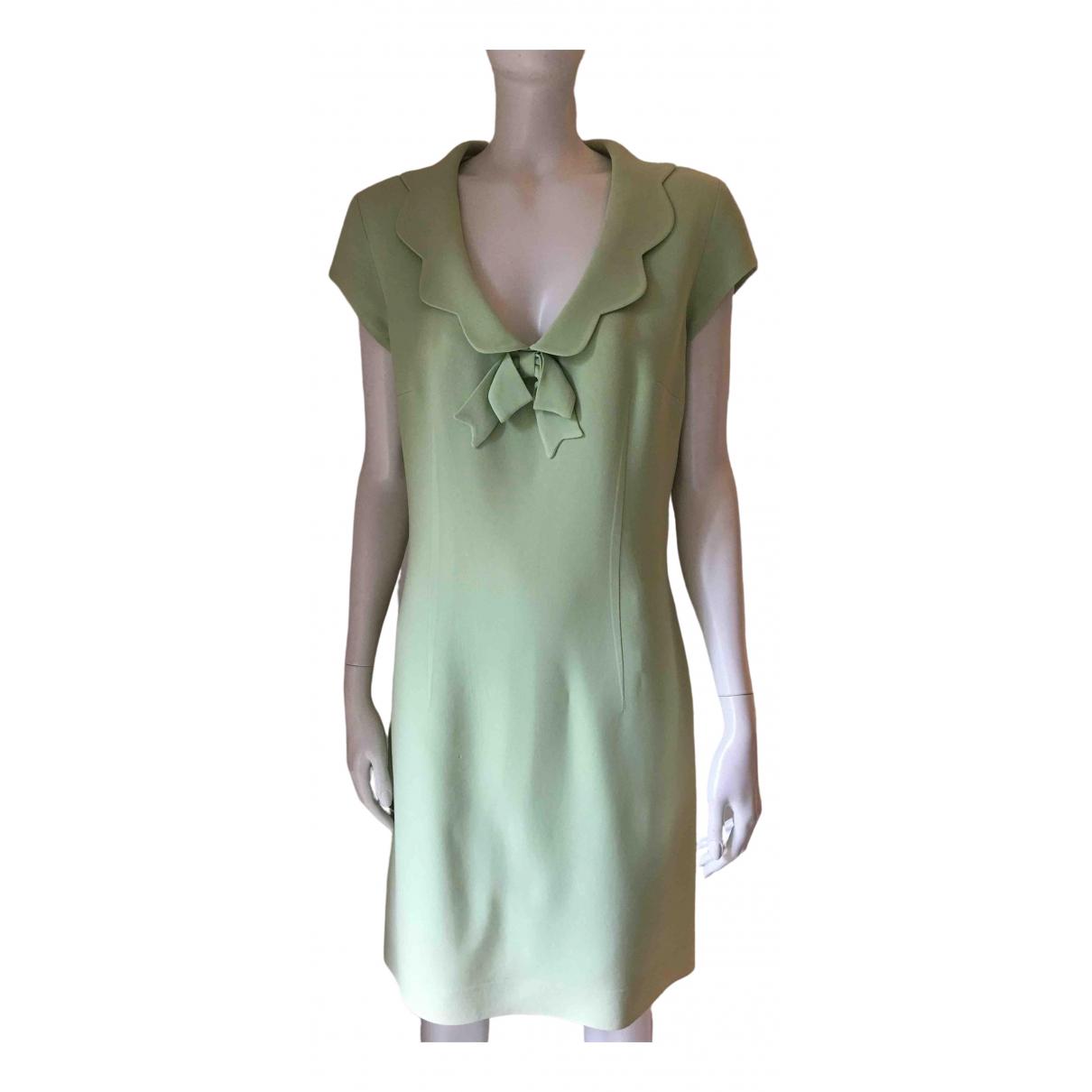Moschino Cheap And Chic \N Kleid in  Gruen Seide