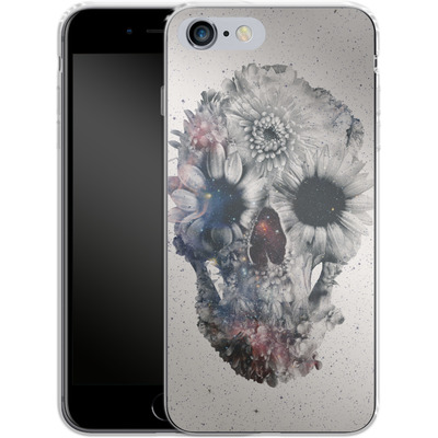 Apple iPhone 6 Plus Silikon Handyhuelle - Floral Skull 2 von Ali Gulec