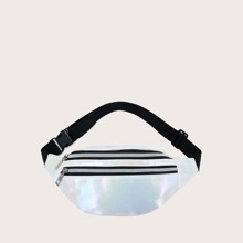 Holographic Zip Front Fanny Pack