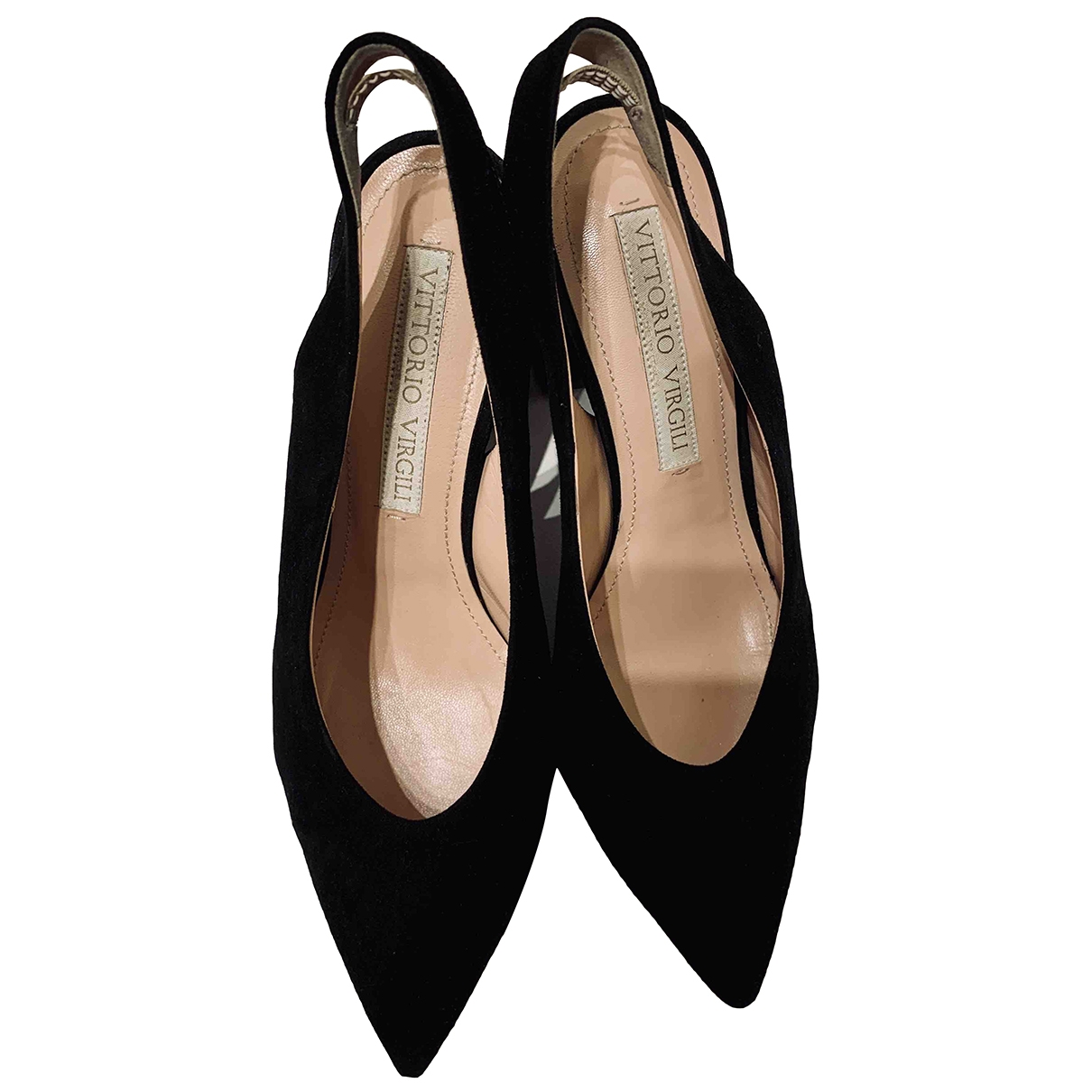 Non Signé / Unsigned \N Black Suede Heels for Women 37 EU