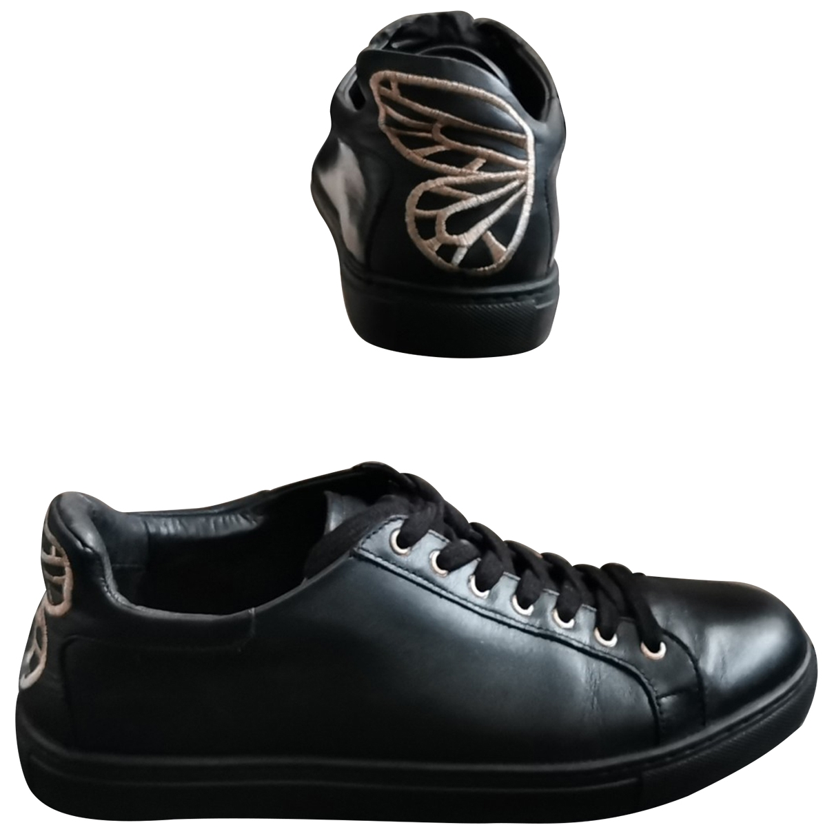 Sophia Webster - Baskets   pour femme en cuir - noir