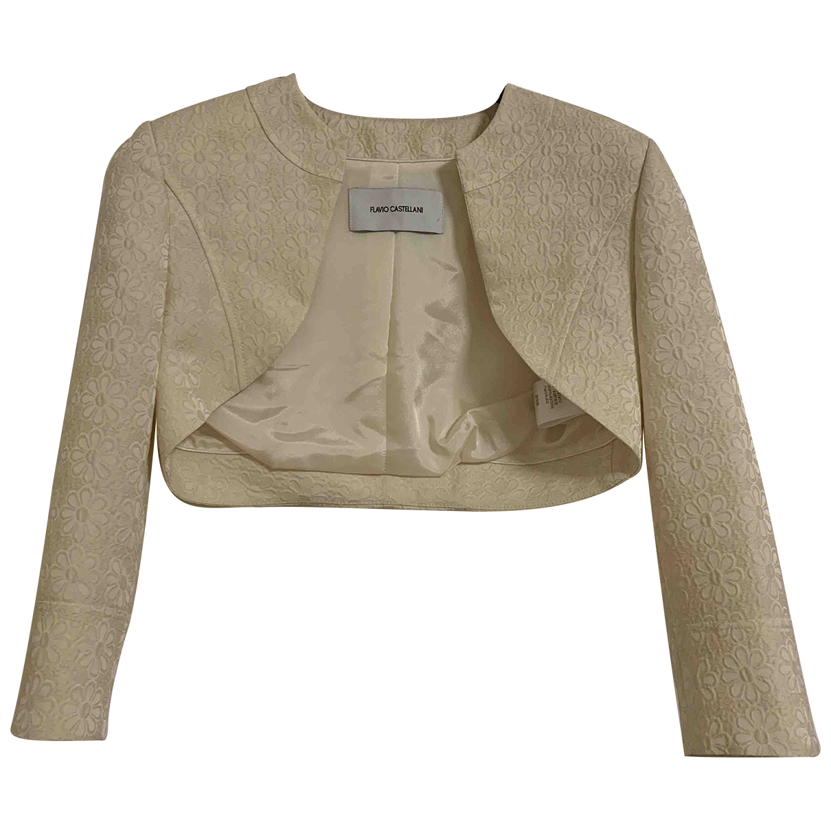 Flavio Castellani N White Tweed jacket for Women 42 IT