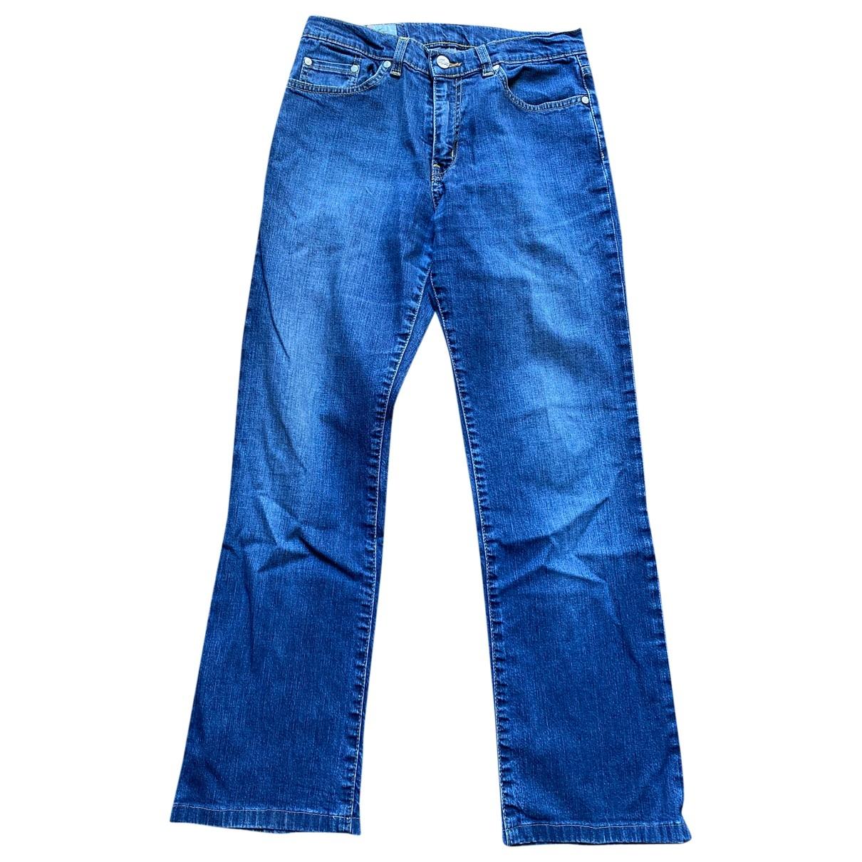 Lacoste \N Blue Cotton Trousers for Women 38 FR