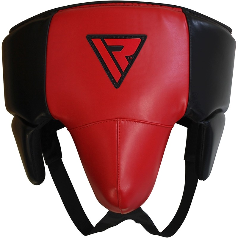 RDX X3 No Foul Rouge Coquille Protection Grande Cuir PU