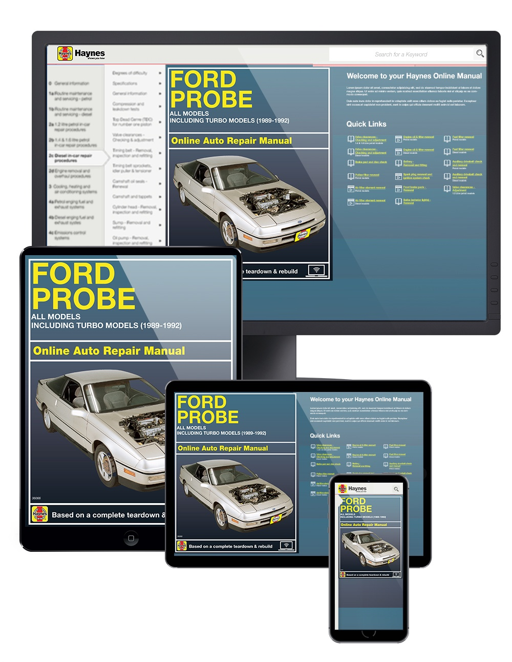 Ford Probe including Turbo Models (89-92) Haynes Online Manual
