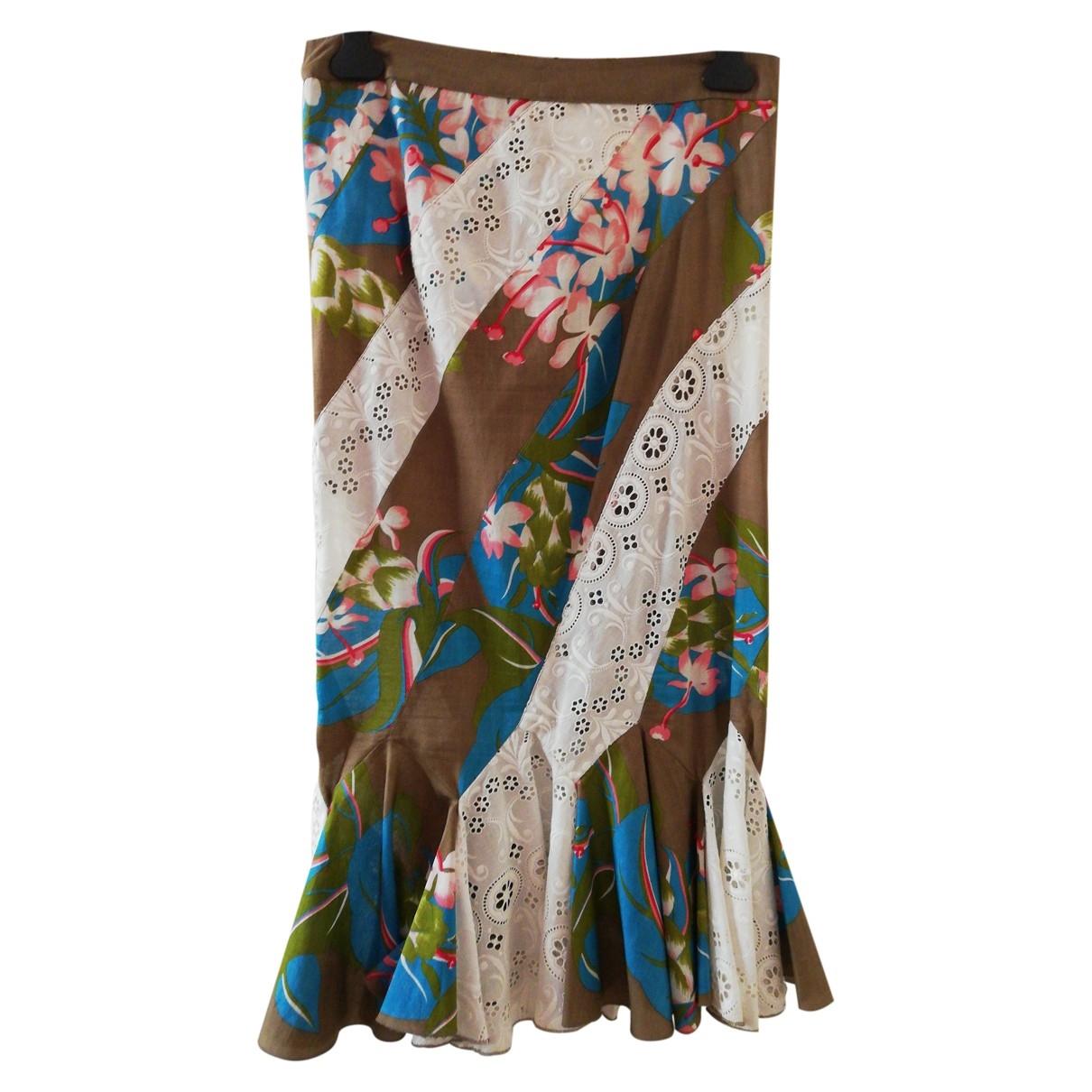 Non Signé / Unsigned \N Multicolour Cotton skirt for Women 42 FR