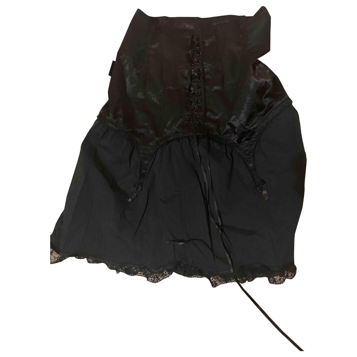 Moschino Cheap And Chic - Jupe   pour femme en coton - elasthane - noir