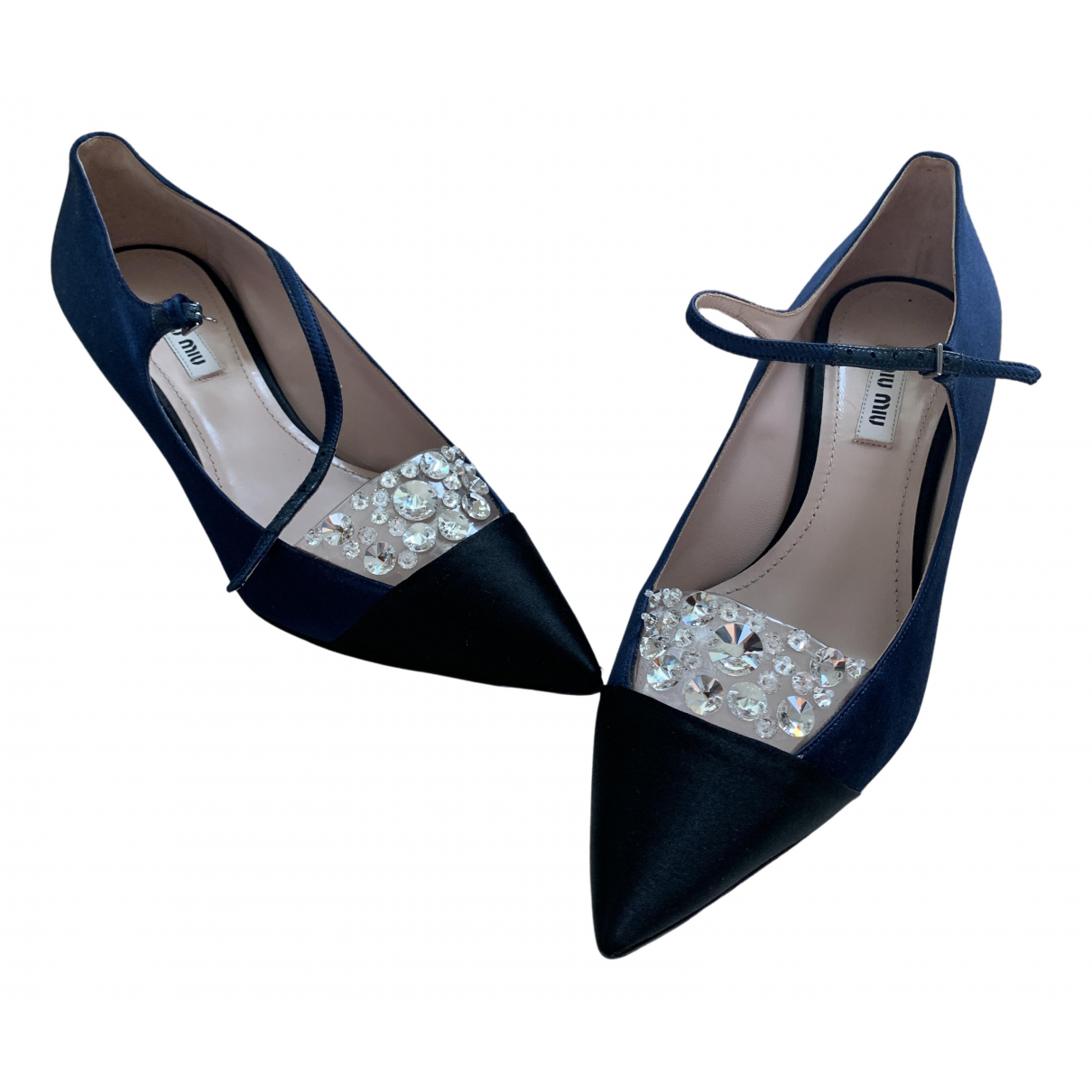 Miu Miu \N Blue Cloth Heels for Women 37.5 IT