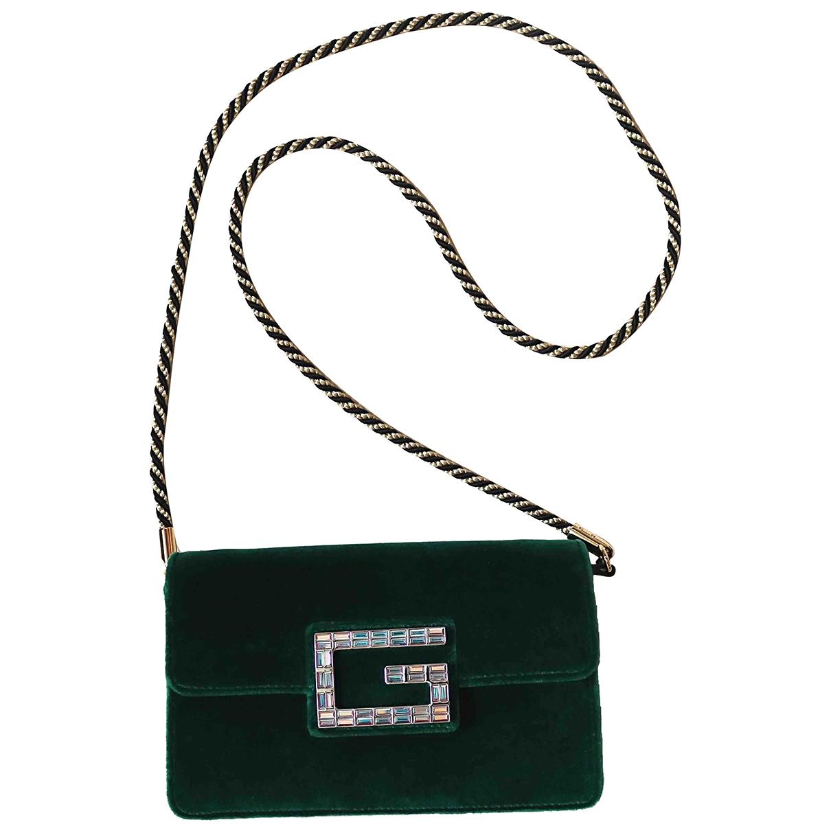 Gucci - Sac a main Square G pour femme en velours - vert