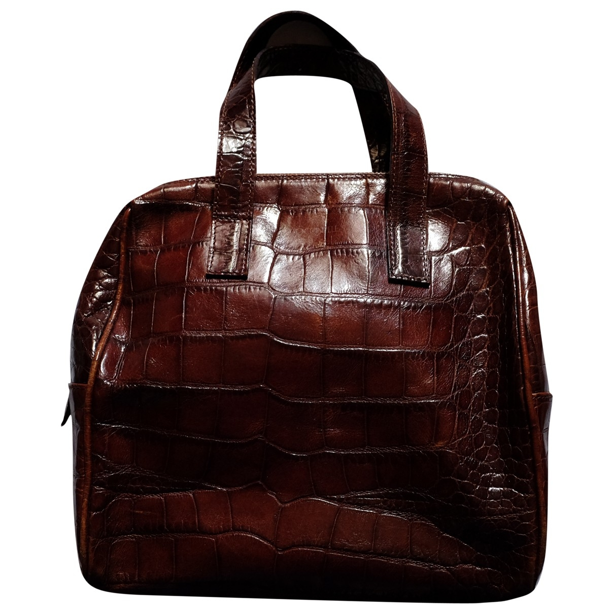 Coccinelle \N Brown Patent leather handbag for Women \N