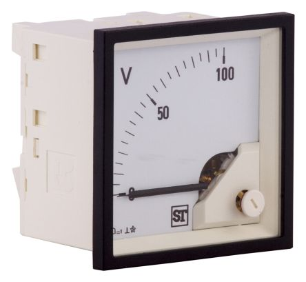 Sifam Tinsley DC Analogue Voltmeter, 100V, 68 x 68 mm,