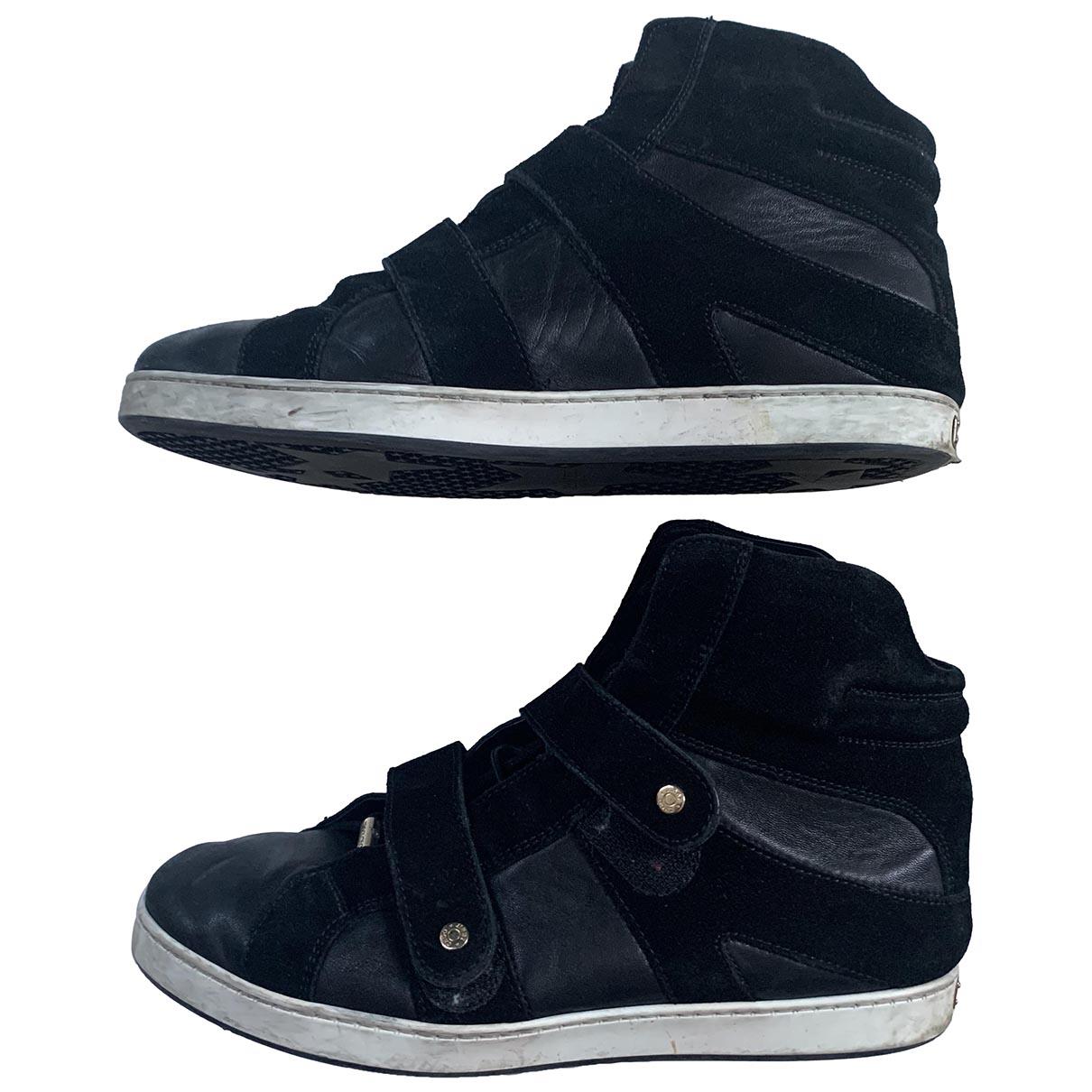 Jimmy Choo \N Black Leather Trainers for Women 37.5 EU