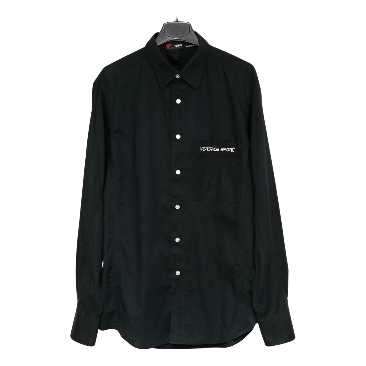 Versace Jeans N Black Cotton Shirts for Men M International