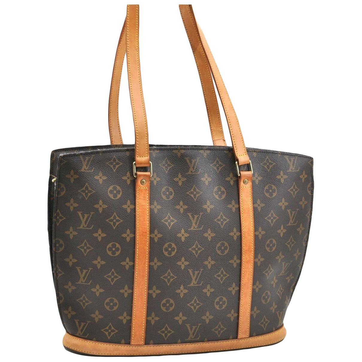 Louis Vuitton Babylone Handtasche in  Braun Leinen