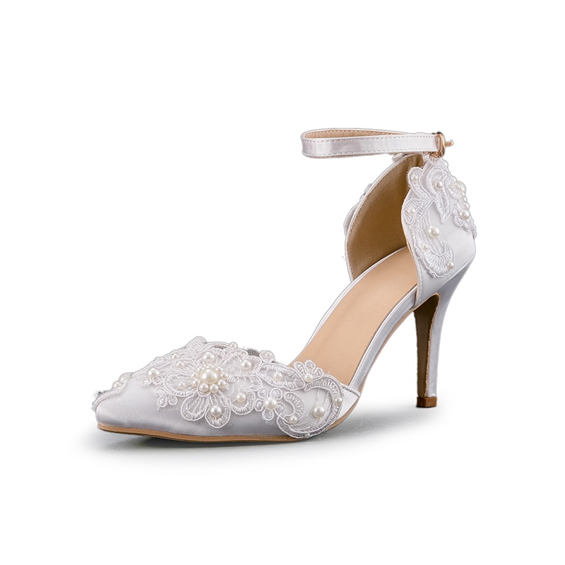Ericdress Pointed Toe Beads Line-Style Buckle Wedding Shoes