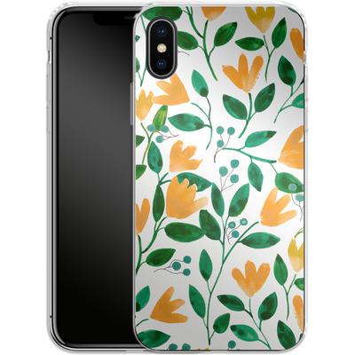 Apple iPhone X Silikon Handyhuelle - Fresh Foliage von Iisa Monttinen
