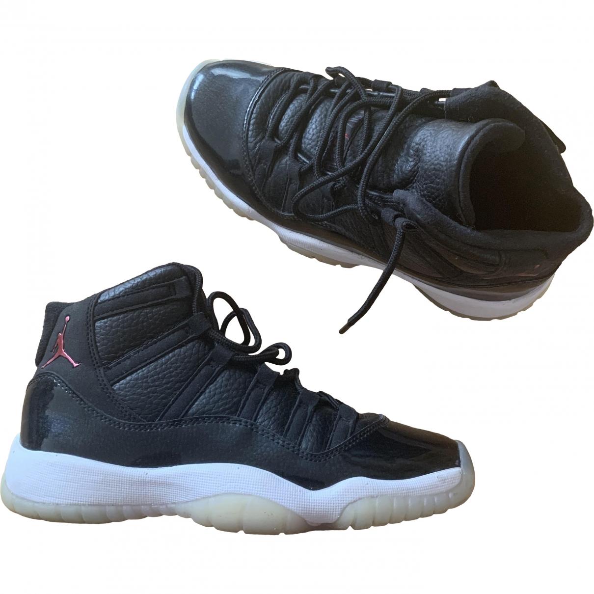 Jordan Air Jordan 11 Black Leather Trainers for Women 36.5 EU