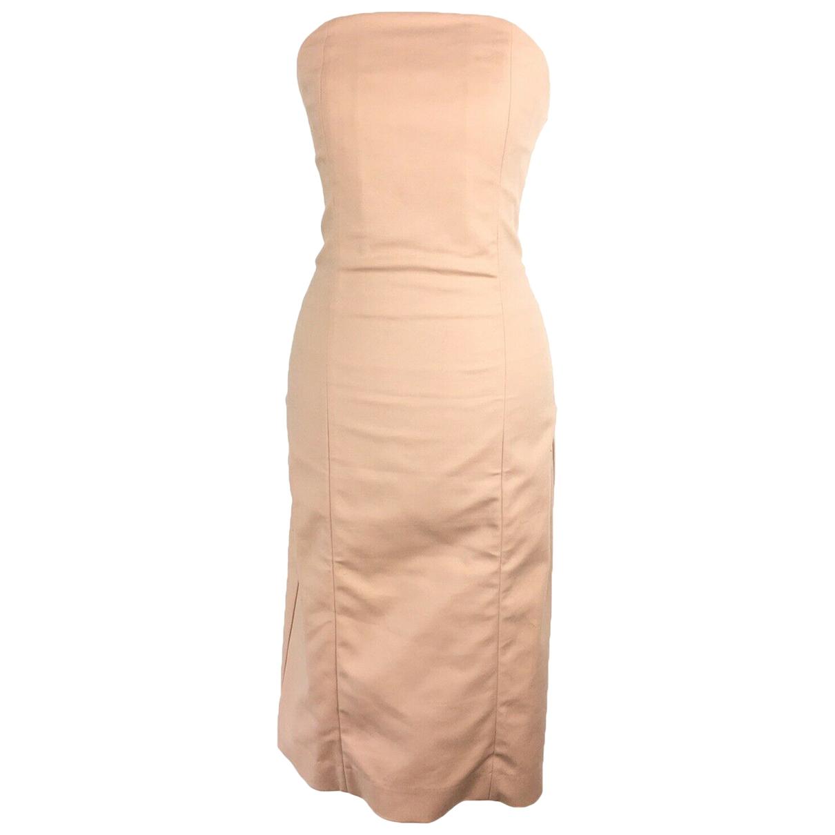Cos - Robe   pour femme en coton - elasthane - beige