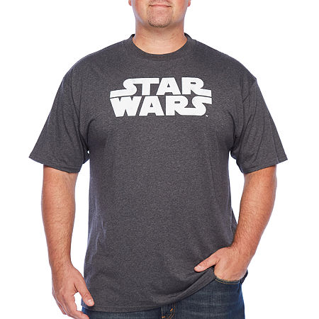 Big and Tall Mens Crew Neck Short Sleeve Star Wars Graphic T-Shirt, 4x-large Tall , Black