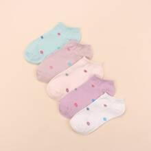 5 Paare Socken mit geometrischem Muster