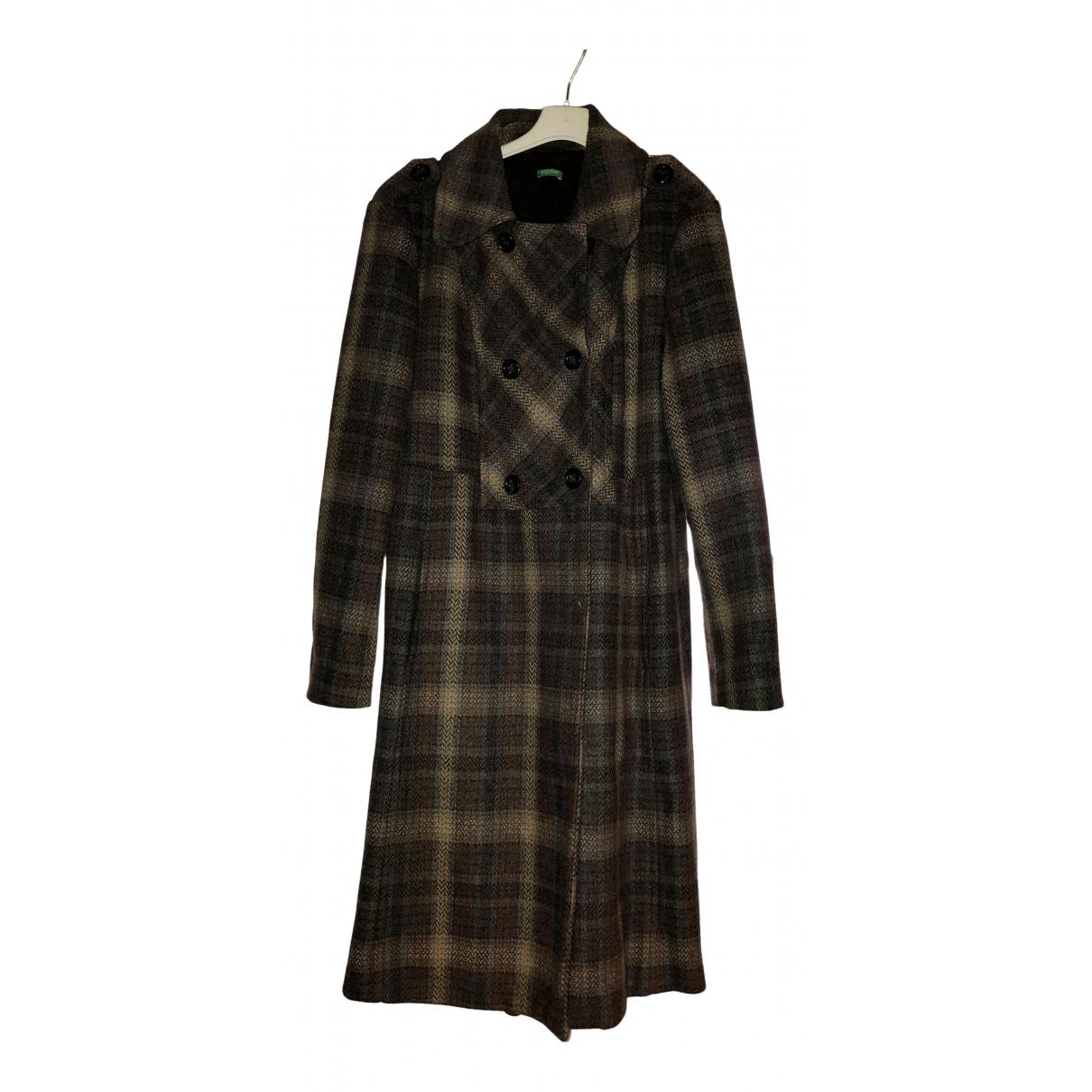 Benetton - Manteau   pour femme en laine - marron