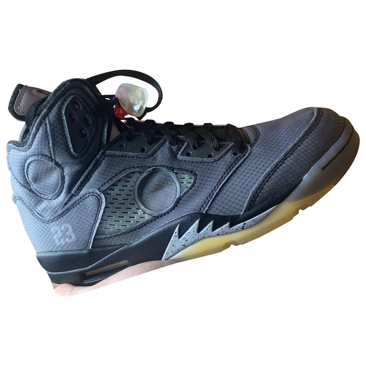 Nike X Off-white Jordan 5 Sneakers in  Grau Leinen